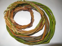 A collection of willow rings