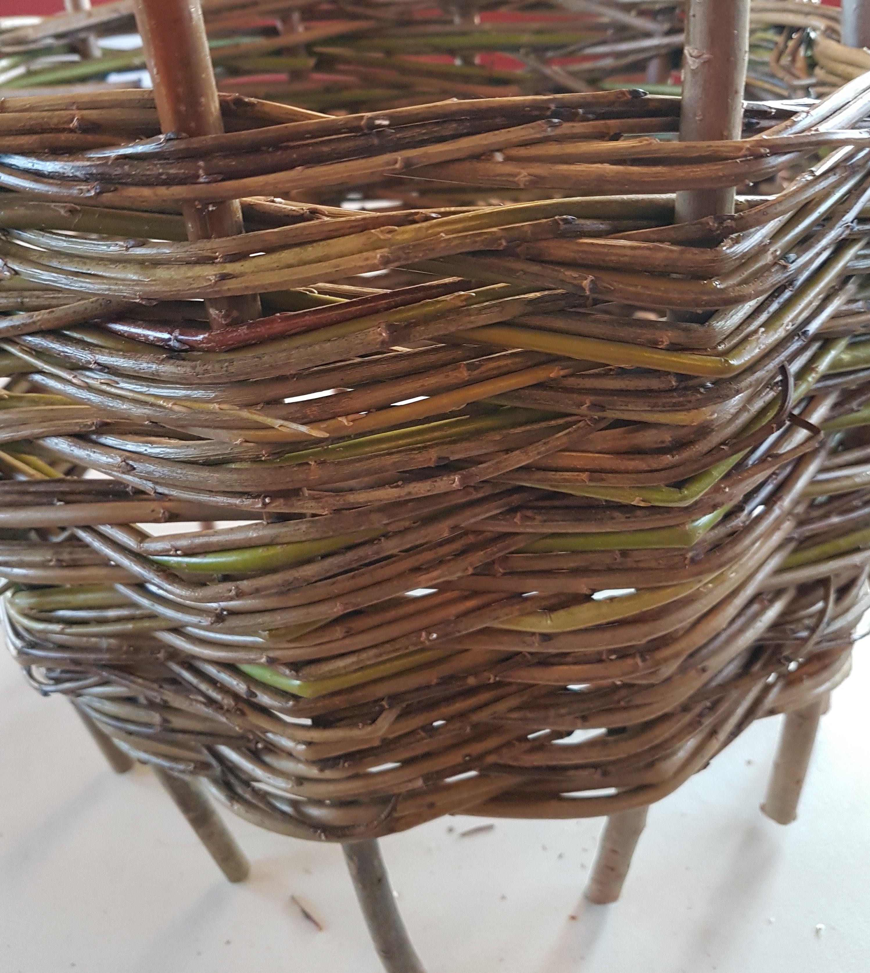 Woven willow Christmas tree skirt or collar
